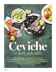 Pretty arrangement and colour.  Styling Tove Nilsson, photograph Charlie Drevstam, för swedish food mag Allt om mat.