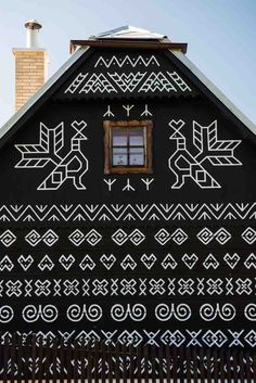 Located in the Žilina district of Slovakia, Čičmany is the first folk architecture reserve in the world.