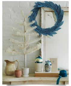 Patterned paper lends a look of feathers in a DIY wreath you'll Be Tempted to Leave Up All Year