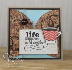 Card by Anya Schrier using Better With You from Verve Stamps.  #vervestamps
