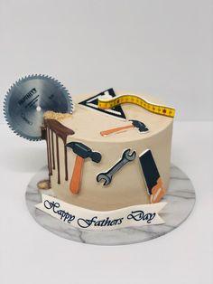 Fondant, Father, Birthday Cake, Cakes, Food, Carpentry, Pai, Cake Makers, Birthday Cakes