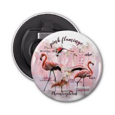 Pink Flamingo Typography   Customized Bottle Opener - kitchen gifts diy ideas decor special unique individual customized