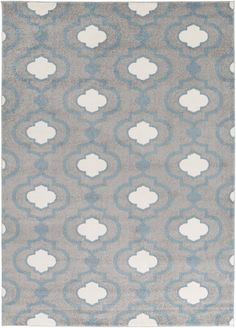 Surya Horizon HRZ1022 Grey/Blue Machine Made Area Rug
