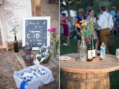 Brocoff Photography // Vintage wedding decor // flowers for the hair, candies for the pockets. So cute!