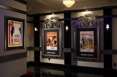 Art Deco theater styling - grey with darker grey and red accents....like it