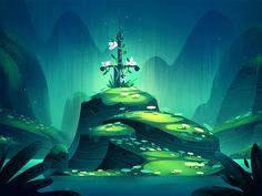 Stone Sword Background