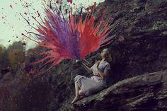 Aliza Razell Creates Dreamy Self-Portraits Combined with Vibrant Watercolors