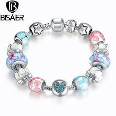 Charm Bracelet: Silver Plated Heart Start Charm Bracelets - Bracelets World