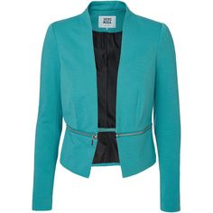 Vero Moda Long Sleeved Blazer ($44) ❤ liked on Polyvore featuring outerwear, jackets, blazers, blue, vero moda, tall jackets, long sleeve jacket, vero moda jacket and blue blazer