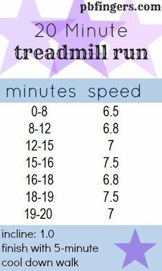 20 Minute Treadmill Run
