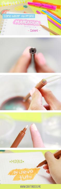 Como hacer un marcador que borra tinta