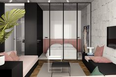 Roohome.com - Are you confused to choose a suitable concept for your flat? How about the great inspiration of small modern studio apartment here? You must see them to get more inspiration while renovate or arrange your flat. The apartment also becomes a second place for us to get a relax ...