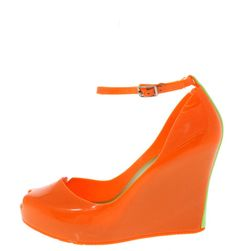 DEASIA01 ORANGE JELLY CUTE WEDGES ONLY $10.88. . All womens shoes, heels, wedges, sandals, and flats are $10.88 a pair.