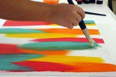 Pintura de quadros abstratos