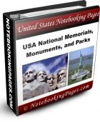 free Nov. 2 - 8, 2015 National Parks, Monuments, & Memorials Notebooking Pages (over 500 pages)