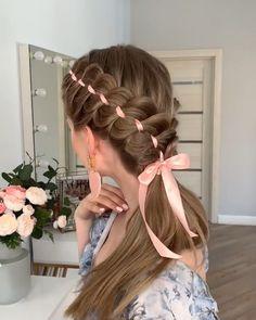 Haircuts For Medium Hair, Easy Hairstyles For Long Hair, Cute Hairstyles, Halloween Hairstyles, Style Hairstyle, Hairstyles 2018, Wedding Hairstyle, Hair Up Styles, Medium Hair Styles