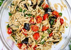 Roasted eggplant, cherry tomatoes and orzo combine in this light pasta dish. It's a great weeknight dinner recipe for summer and early fall! If you can't find whole wheat orzo, try rotini or fusilli or another small pasta shape. Recipe yields 4 to 6 servings. Ingredients Roasted eggplant 1 medium purple eggplant (about 1 pound), …