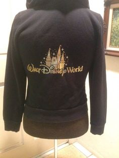 Walt Disney World Castle Hoodie Black With Bling Large in Collectibles, Disneyana, Contemporary (1968-Now) | eBay
