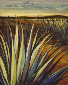 Tequila Agave IV.  Acrylic on Board. Limited Edition Giclee Prints available at karinshelton.com. Tequila Agave, Downtown Santa Barbara, Giclee Print, Succulents, Aloe, Prints, Paintings, Board, Abstract