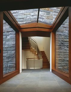 love these elements, the stone / brick, the wood accents, the floors