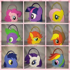 my little pony party bags treat favors, rarity flutter shy rainbow dash and more from titaspartycreations on Etsy. Saved to MLP.