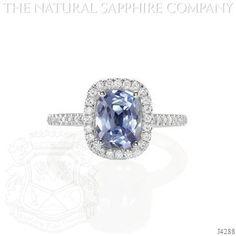 Elegant pale blue saphire
