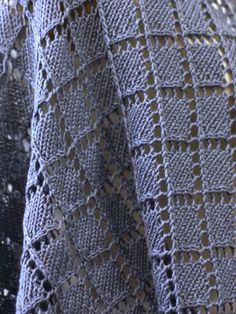Dorothea is a big shawl knit in a geometric lace pattern that is worked from the center out. This free pattern is available exclusively as a print-friendly PDF file - it's easy to read and requires less paper when printed. To download the pattern, just click the PDF link above. Trouble getting the PDF? Make sure you've downloaded the latest version of the free Adobe Reader software.: