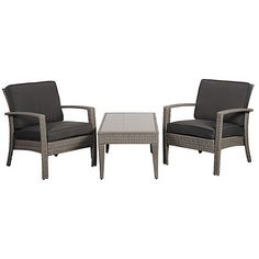 Florida 3-pc Patio Set Gray Outdoor Lounge Sets ($545) ❤ liked on Polyvore featuring home, outdoors, patio furniture, outdoor loungers & day beds, grey, gray outdoor furniture, outdoor lounge set, gray patio furniture, outside patio furniture and grey outdoor furniture