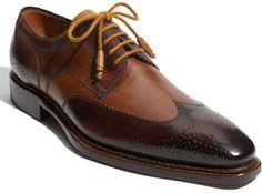 Mezlan Copa Wingtip Oxford in Brown for Men (brown/ tan) $395