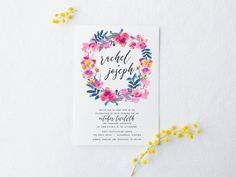 Watercolor Floral Wedding Invitation Suite par SplashOfSilver