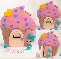PDF pattern felt quiet book and doll - Cupcake doll house soft book, plush toy Water Games For Kids, Indoor Activities For Kids, Indoor Games, Family Activities, Outdoor Activities, Quiet Book Templates, Quiet Book Patterns, Gingerbread Man Crafts, Cupcake Dolls