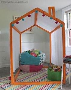 Ana White | Build a 2x2 Indoor Playhouse Frame | Free and Easy DIY Project and Furniture Plans