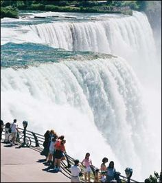 Niagara Falls, Canada side. Didn't get to do the boat ride, though.