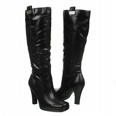 WHOLESALE JOBLOT OF 10 LADIES JACQUELINE BLACK KNEE-HIGH HIGH HEEL BOOTS