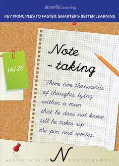 Would you like to learn fast? Taking notes is essential for speeding up your learning: http://kwiklearning.com/atoz/notes.php #learn #learning #notes 