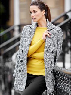 M&Co. Women Boucle Pea Coat