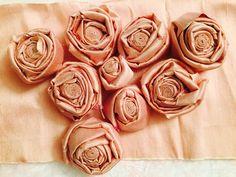 Roselline in seta per decorare cornici, paralumi, quadretti...