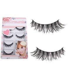 5 Pairs Lot Black Soft Long Messy Cross False Eyelashes Natural Makeup Extension