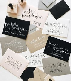 A7 Envelope Brush Hand Lettered Calligraphy Envelope Addressing