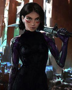 Character Inspiration, Character Design, Battle Angel Alita, Female Hero, Anime Japan, Blade Runner, Cyberpunk, Sexy Women, Goth