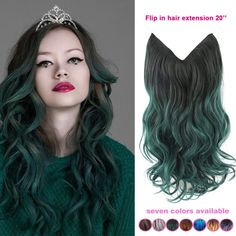 Find More Hair Weaves Information about 20 inch one piece ombre green hair extensions natural wave synthetic invisible no weaving flip in hair extension fish line hair,High Quality extension hair,China hair bobbles Suppliers, Cheap hair leopard from Fantasy Hair on Aliexpress.com