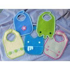 Crochet Baby Bib Patterns | Crochet Baby Bib Pattern PDF by NeedleNoodles on Etsy