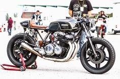 "Honda CB by MotoVeloci     ""Hand made last year with attention for all details, shaped all features by hand with iron sheet, leather s..."