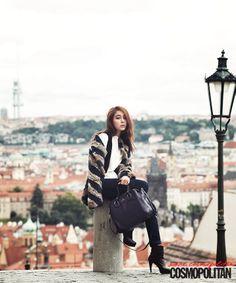 Fun Fearless Female :: Cosmopolitan Korea : 프라하의 보헤미안이 된 이민정