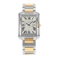 f52444822 Cartier Tank Anglaise Medium Automatic Rose Gold And Steel Ladies Watch  W5310037