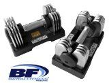 awesome Bayou Fitness Pair of Adjustable 25 lb Dumbbells (Two 25-Pounds)