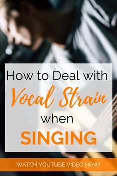 Signs, causes and how to deal with vocal cord strain. Watch this video to learn more. Learn Singing, Singing Tips, Vocal Warm Up Exercises, Singing Training, Singing Techniques, Vocal Lessons, Guitar Chords For Songs, Teaching Channel, Watch Youtube Videos