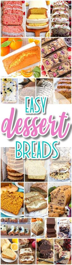 The BEST Easy Dessert Breads Recipes - Quick Bread and Loaf Pan Treats Recipes in all your favorite sweet and yummy flavors - Dreaming in DIY (Bread Sweet Recipes) Quick Bread Recipes, Easy Bread, Quick Meals, Sweet Recipes, Cooking Recipes, Weeknight Meals, Dessert Simple, Köstliche Desserts, Dessert Recipes