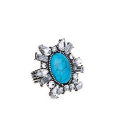 Another great find on #zulily! Turquoise & Burnished Silvertone Darwin Ring #zulilyfinds