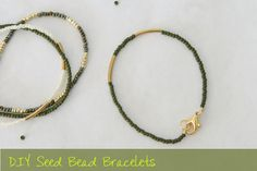 seed bead bracelets | you can make them longer so they can wrap around your wrist